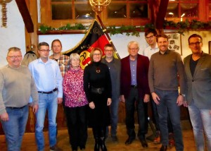 Dem neu gewählten SPD-Vorstand gehören an (v.l.) Tobias Nagel, Frank Simon, Ralf Mat-tern, Franziska Gruschka, Petra Börst-Harder, Bernd-Uwe Wolf, Rolf Harder, Karsten Barner, Kevin Müller und Tobias Kascha.